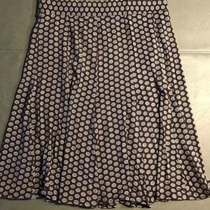 Boden Women's Flare skirt, Plum Teal dot Sz 8 R